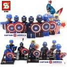 Captain America 8pc Mini Figures Building Blocks Minifigures Block Build Set STANDARD PLUS SHIPPING