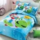 Super Mario 3PC Design Bedding Cover Set NEW - Queen Size SALE $5 SHIP