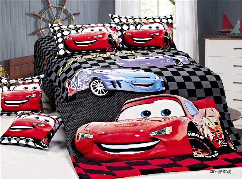 Disney Cars 3PC Design Bedding Cover Set NEW - Queen Size SALE $5 SHIP
