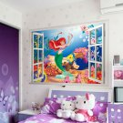 "The Little Mermaid 3D Wall Character Wall Decal 24""x18"" Disney"