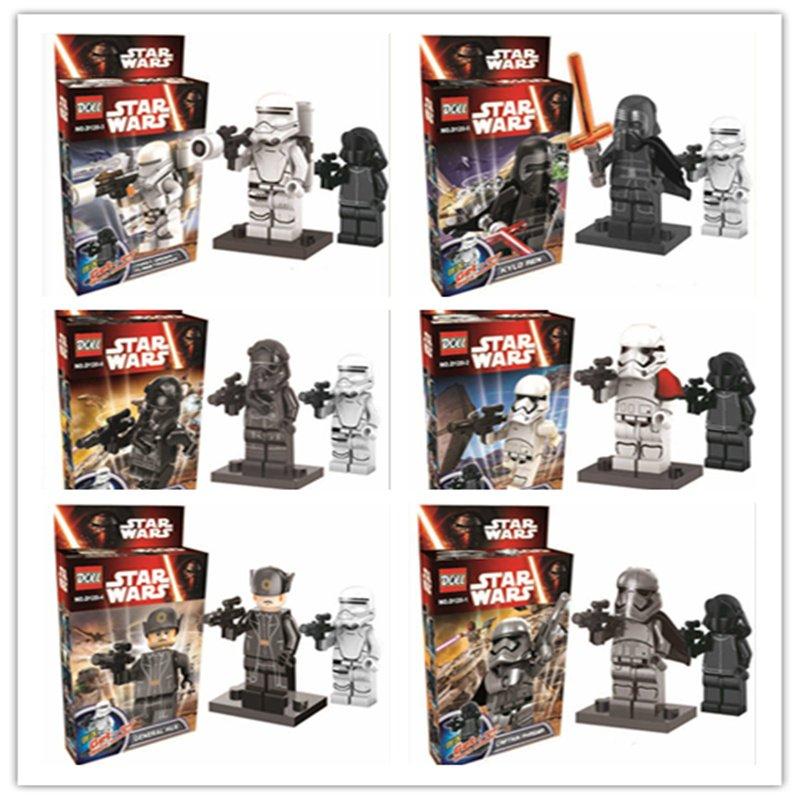 Star Wars The Force Awakens 12pc Mini Figures Building Blocks Minifigures set