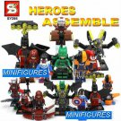Avengers Minifigures Harley Quinn/Red Arrow/Iron Man/Batman 8pc Building Blocks Minifigures set
