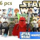 Star Wars New Admiral Ackbar Mini Figures 16pc Building Blocks Minifigures Block Build NEW
