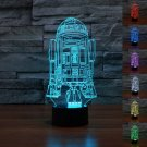 R2D2 3D LED Light Lamp Tabletop Decor 7 Colors -Star Wars Character
