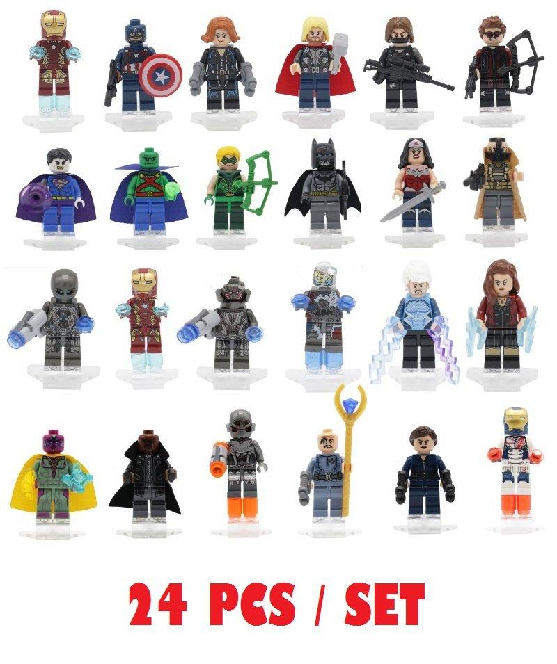Minifigures 24PCS Set Specialty Collectors Mini Figures Building Blocks Minifigures