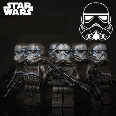 Star Wars 6pc Storm Troopers Black Clone Mini Figures Building Blocks Minifigures Block Build SALE