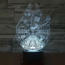 Stars Wars Millennium Falcon 3D LED Light Lamp Tabletop Decor 7 Colors -Star Wars Character