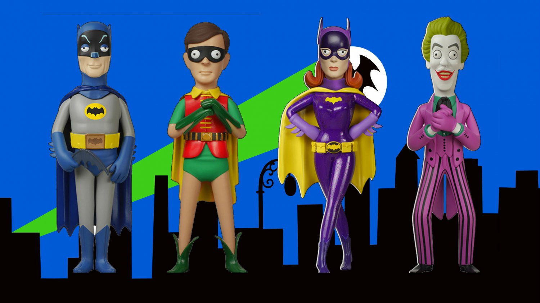 Batman TV Show Classic 1966 Vinyl Dolls Batman, Robin, Joker, Batgirl
