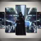 Darth Vader Troopers Star Wars 5pc Wall Decor Framed Oil Painting Bedroom Art