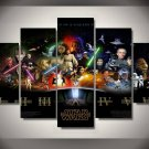 Star Wars movie Characters 5pc Wall Decor Framed Oil Painting Bedroom Art