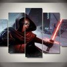Star Wars Kylo Ren Force Awakens 5pc Wall Decor Framed Oil Painting bedroom art