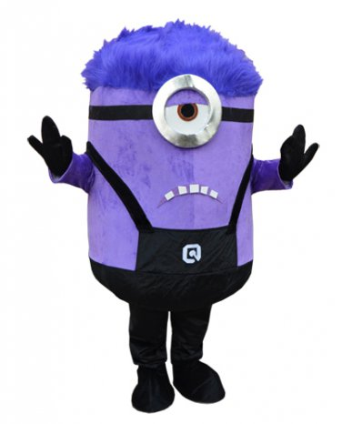 sc 1 st  Everything-Hollywood - eCRATER & Purple Minion Mascot Costume Despicable me Character Adult