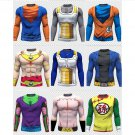 Dragon ball Z Compressed Long sleeve fitting shirts 9 Choices Cartoon Adult SALE