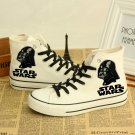 Star Wars Casual Shoes White with Darth Vader Pair New
