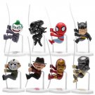 8pcs Freddy Jason Joker Batman Alien Batman Climbing Action Figures