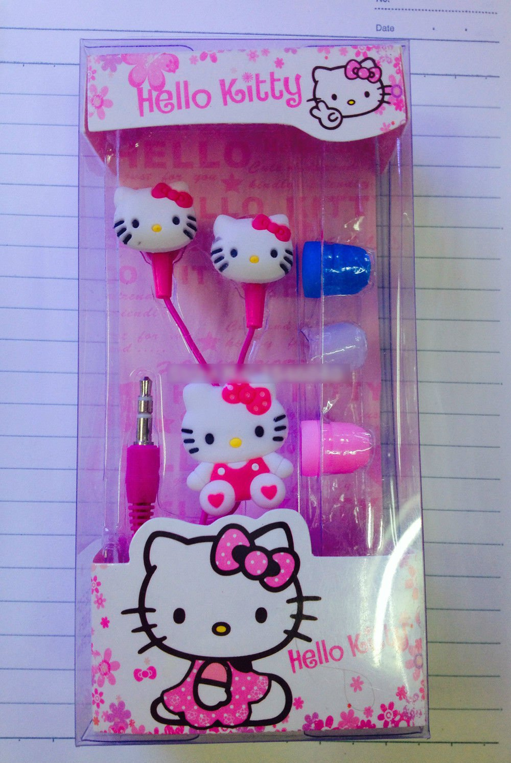 Hello Kitty Earphones for iphone 5 and 6 and any 3.5MM Device