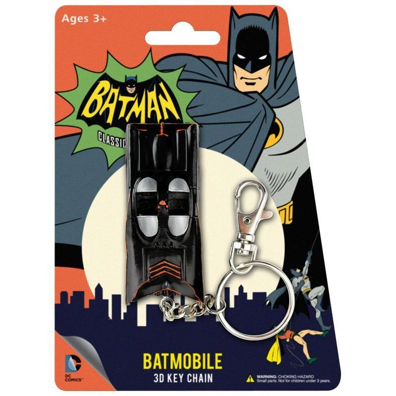 Batman Batmobile Classic 3D Key Chain DC Comics