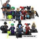 Villans DC Marvel 6pc Mini Figures Building Blocks Minifigures Block Build Set Joker Penguin