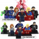 Superman Justice DC Marvel 6pc Mini Figures Building Blocks Minifigures Block Build Set