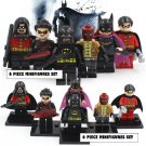 Batman DC Marvel 6pc Mini Figures Building Blocks Minifigures Block Build Set