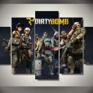 Dirty Bomb Gaming 5pc Wall Decor Framed Oil Painting Bedroom Art