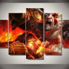 Game god of war  Gaming 5pc Wall Decor Framed Oil Painting  Bedroom Art