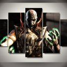 Game god of war  Gaming 5pc Wall Decor Framed Oil Painting 2 Bedroom Art