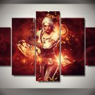 The Witcher Wild Hunt Gaming 5pc Wall Decor Framed Oil Painting Design 2 Bedroom Art