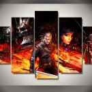 The Witcher 3 Gaming 5pc Wall Decor Framed Oil Painting Bedroom Art