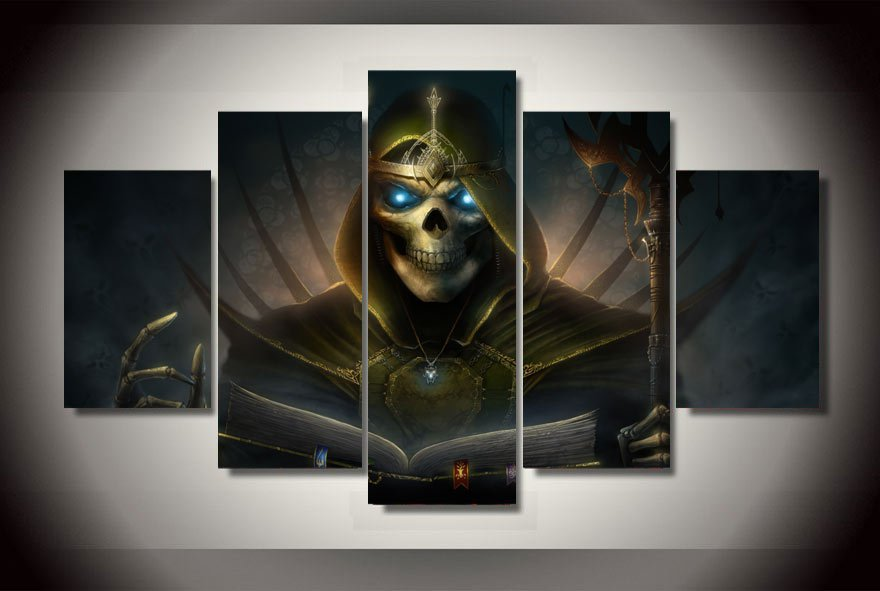 Heroes of might and magic Gaming 5pc Wall Decor Framed Oil Painting