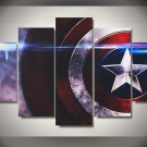 Captain America Shield Framed 5pc Oil Painting Wall Decor Comics Superhero