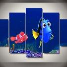 Finding Nemo Framed 5pc Oil Painting Wall Decor Disney Cartoon