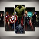 The Avengers Superhero Movie Framed 5pc Oil Painting Wall Decor Hulk Captain America Thor Iron Man