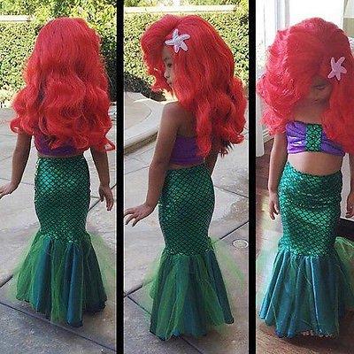 Little Mermaid Ariel Girls Costume Super Cute Multiple Sizes SALE