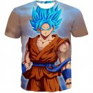 Dragon Ball Z Goku 3D T Shirt Anime Super Saiyan Adult  Multiple Sizes