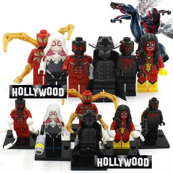 Deadpool Marvel 8pc Mini Figures Building Blocks Minifigures Block Build Set