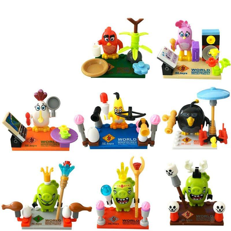 Angry Birds 8pc Mini Figures Building Blocks Minifigures Block Build Set 2