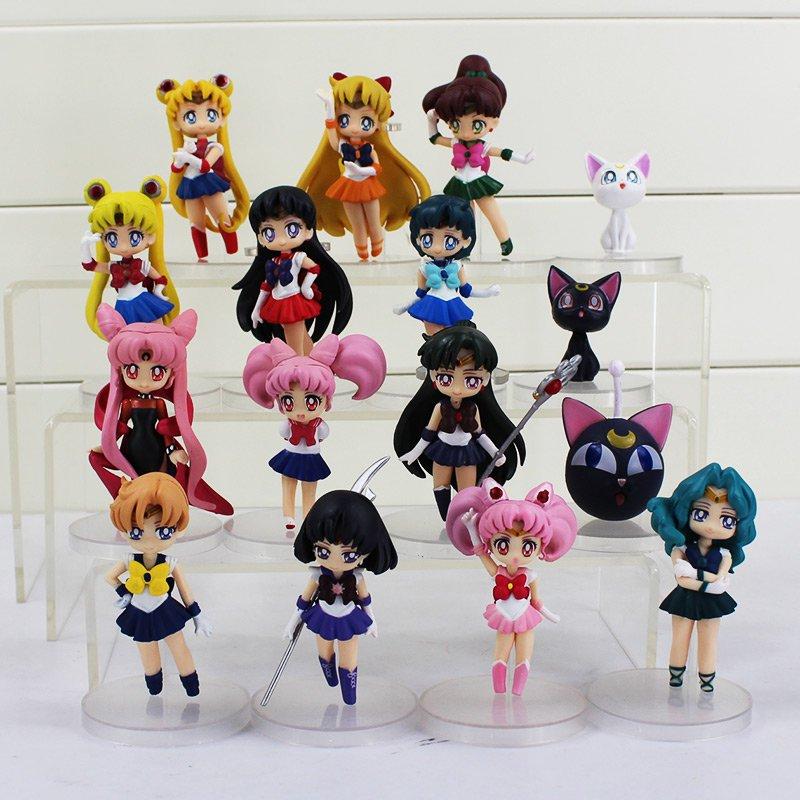 Sailor Moon 16pcs set Figure Anime Figurines