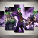 The Joker Batman DC Comics 5pc Wall Decor Framed Oil Painting #12 Superhero