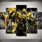 Transformer Bumblebee Character 5pc Wall Decor Framed  Oil Painting