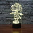 Snoopy 3D LED Light Lamp Tabletop Decor 7 Colors -NEW Peanuts Cartoon Character