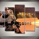Star Wars Movie Character  Storm Trooper Clone 5pc Wall Decor Framed Oil Painting