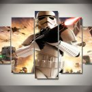 Star Wars Movie Storm Trooper Character 5pc Wall Decor Framed Oil Painting HD