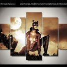Catwoman Movie 5pc Framed Canvas Oil Painting Wall Decor  HD Superhero