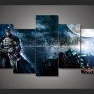 Batman Scene Movie 5pc Wall Decor Framed  Oil Painting Superhero