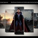 Superman Man of Steel Framed 5pc Oil Painting Wall Decor Comics DC Marvel HD Superhero
