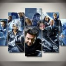 X Men Movie Framed 5pc Oil Painting Wall Decor Comics DC Marvel HD Superhero