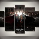 Batman vs Superman Movie 5pc Framed Canvas Oil Painting Wall Decor 2 Superhero HD