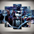 Nightmare Before Christmas Disney Framed 5pc Oil Painting Wall Decor HD