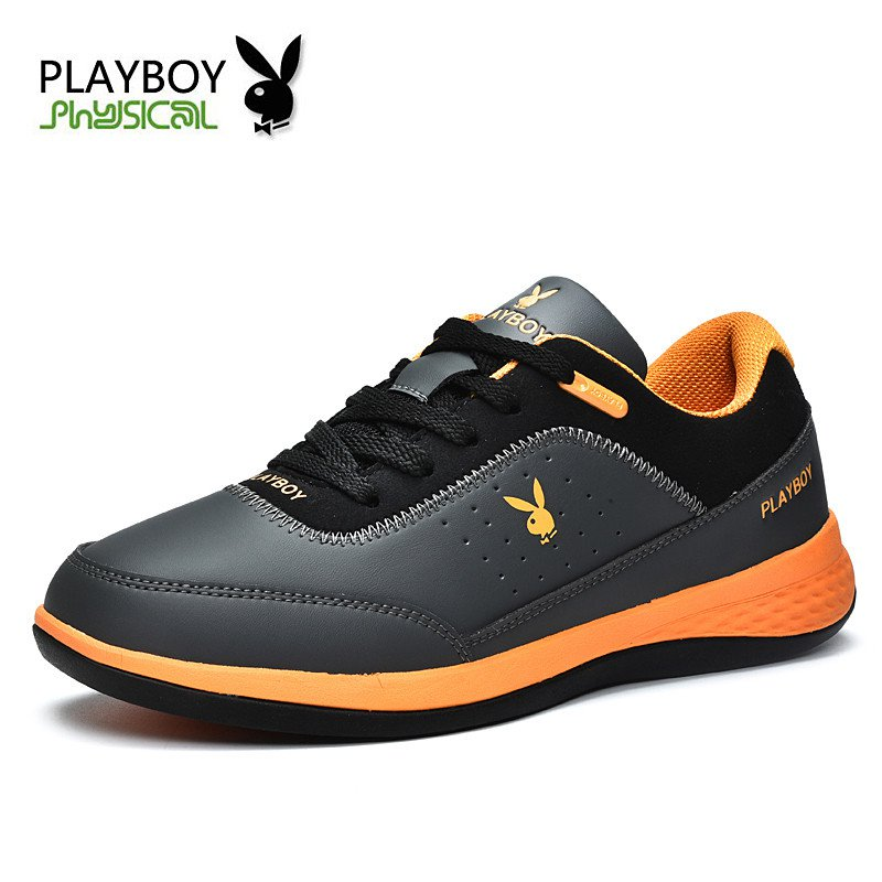 PLAYBOY Men Lace up Casual Shoes  Genuine Leather Shoes Shock Absorption 2